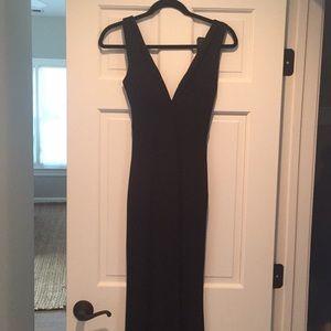 Beautiful floor length black dress